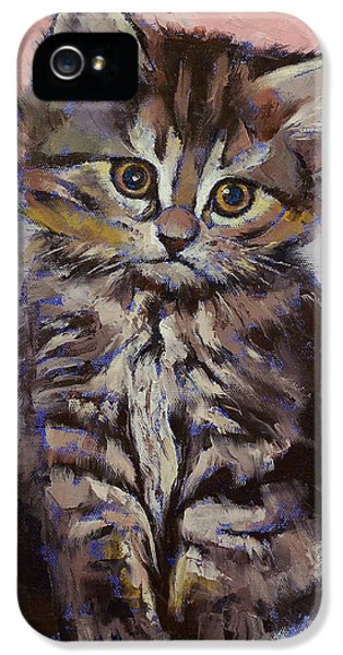 Chat iPhone 5 Case - Kitten by Michael Creese
