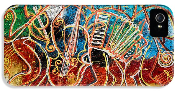 Saxophone iPhone 5 Case - Klezmer Music Band by Leon Zernitsky