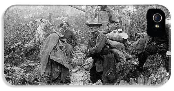Klondike Gold Rush Miners  1897 IPhone 5 Case by Daniel Hagerman