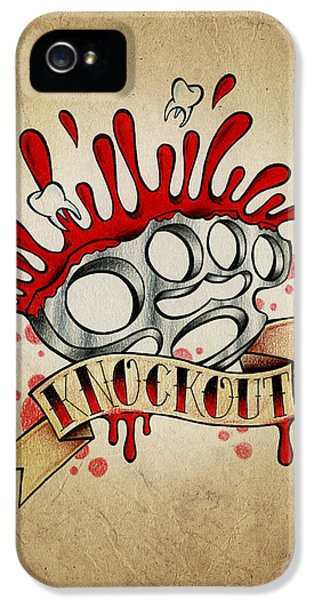 Pencil Drawing iPhone 5 Case - Knockout by Samuel Whitton