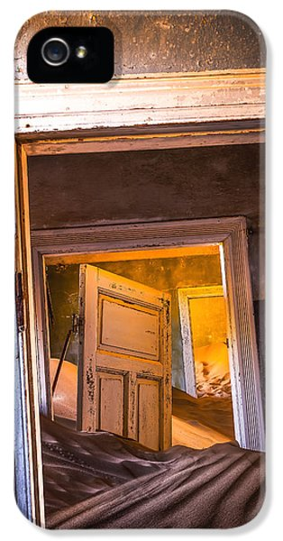 Town iPhone 5 Case - Kolmanskop - Blue Room by Xenia Ivanoff-erb