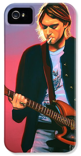 Kurt Cobain In Nirvana Painting IPhone 5 / 5s Case by Paul Meijering