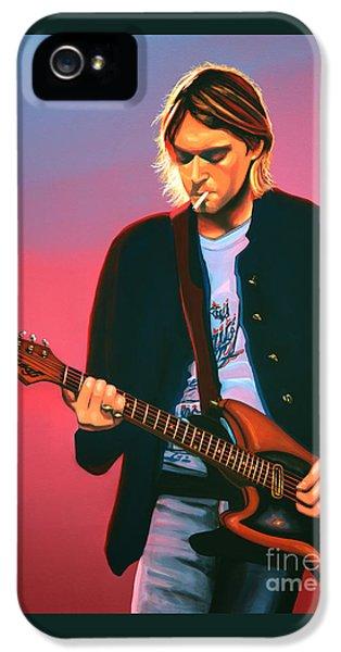 Seattle iPhone 5 Case - Kurt Cobain In Nirvana Painting by Paul Meijering
