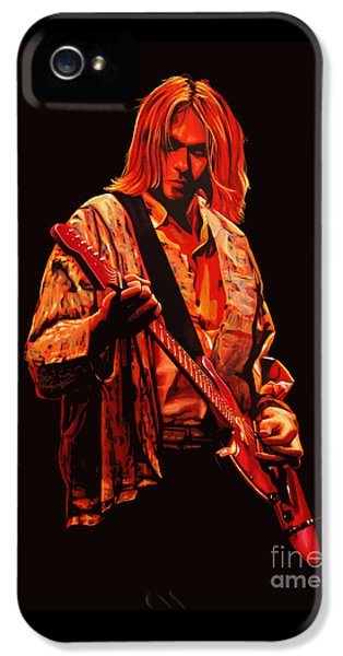 Kurt Cobain Painting IPhone 5 / 5s Case by Paul Meijering
