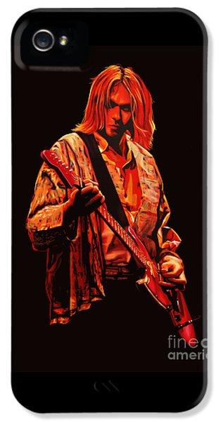 Kurt Cobain Painting IPhone 5 Case by Paul Meijering