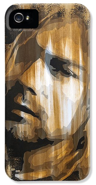 Kurt Cobain Tormented  IPhone 5 Case by Brad Jensen