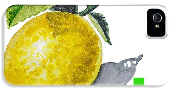 Lemon iPhone 5 Case - L Art Alphabet For Kids Room by Irina Sztukowski