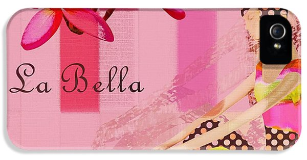 La Bella  - Pink - 055152176-02 IPhone 5 Case by Variance Collections