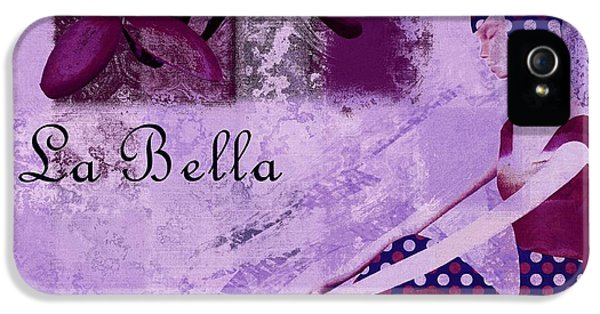 La Bella - Plum - 0640671052-01b IPhone 5 Case by Variance Collections