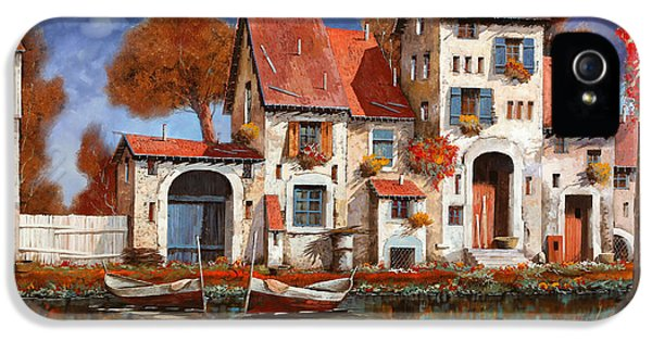 La Cascina Sul Lago IPhone 5 Case by Guido Borelli