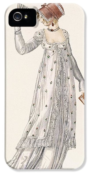 Ladies Evening Dress, Fashion Plate IPhone 5 Case by English School