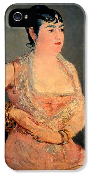 Lady In Pink IPhone 5 Case by Edouard Manet