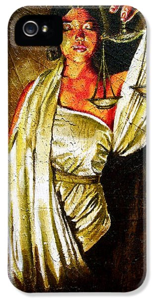 Lady Justice Sepia IPhone 5 Case