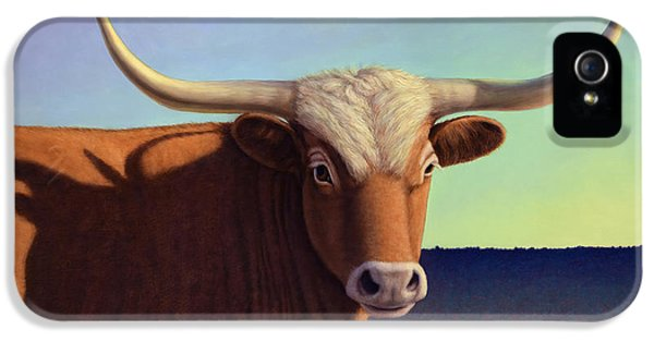 Bull iPhone 5 Case - Lady Longhorn by James W Johnson