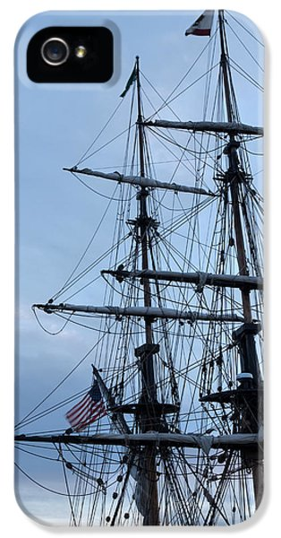 Lady Washington's Masts IPhone 5 Case by Heidi Smith