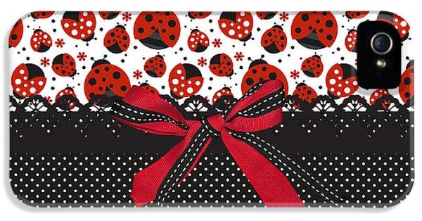 Ladybug Energy  IPhone 5 / 5s Case by Debra  Miller