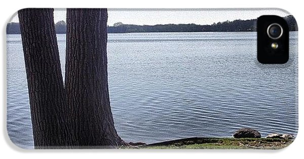 Lake In The Summer IPhone 5 Case by Christy Beckwith