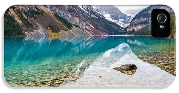 Lake Louise Banff National Park IPhone 5 Case by Pierre Leclerc Photography