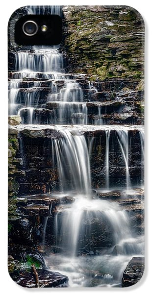 Lake Park Waterfall IPhone 5 Case by Scott Norris