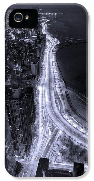 Lake Shore Drive Aerial  B And  W IPhone 5 Case