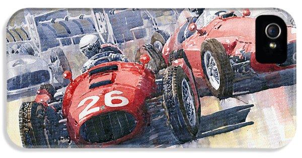 Lancia D50 Alberto Ascari Monaco 1955 IPhone 5 Case by Yuriy  Shevchuk