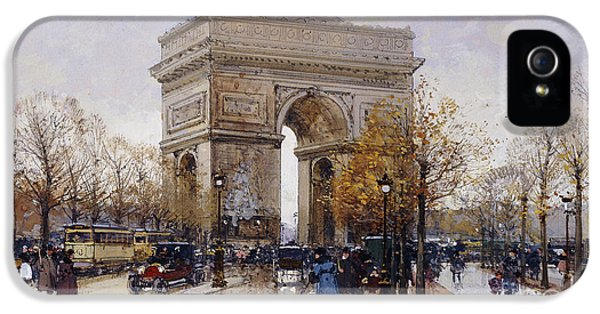 L'arc De Triomphe Paris IPhone 5 Case by Eugene Galien-Laloue