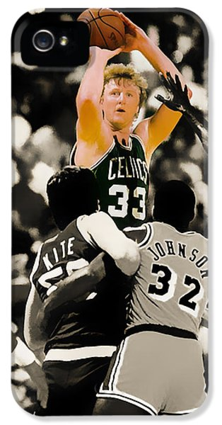 Larry Bird IPhone 5 Case by Brian Reaves