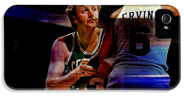 Larry Bird IPhone 5 Case by Marvin Blaine