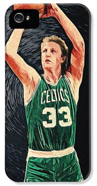 Larry Bird IPhone 5 Case by Taylan Apukovska