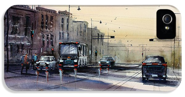 Last Light - College Ave. IPhone 5 Case by Ryan Radke