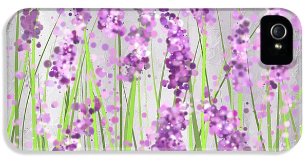 Lavender Blossoms - Lavender Field Painting IPhone 5 Case by Lourry Legarde