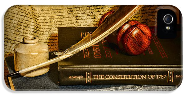 Lawyer - The Constitutional Lawyer IPhone 5 Case by Paul Ward