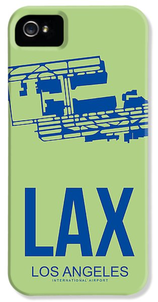 Town iPhone 5 Case - Lax Airport Poster 1 by Naxart Studio