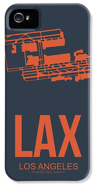 Town iPhone 5 Case - Lax Airport Poster 3 by Naxart Studio