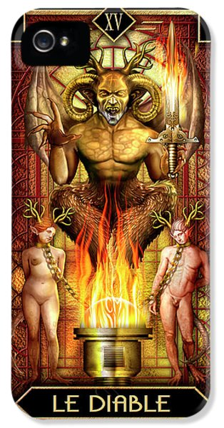 IPhone 5 Case featuring the drawing Le Diable by Ciro Marchetti