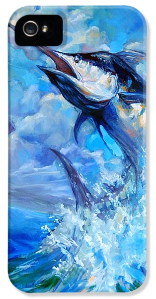 Swordfish iPhone 5 Case - Leaping Marlin by Tom Dauria