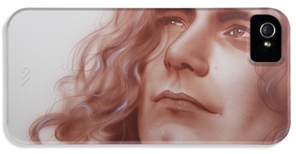 Robert Plant - ' Leaves Are Falling All Around ' IPhone 5 Case by Christian Chapman Art