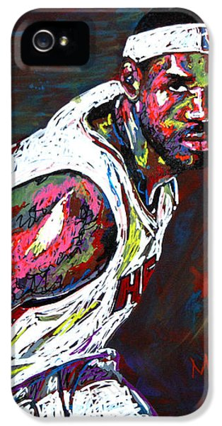 Lebron James 2 IPhone 5 / 5s Case by Maria Arango