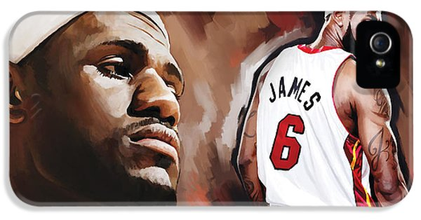 Lebron James Artwork 2 IPhone 5 / 5s Case by Sheraz A