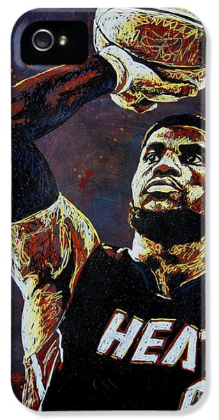 Lebron James Mvp IPhone 5 Case by Maria Arango