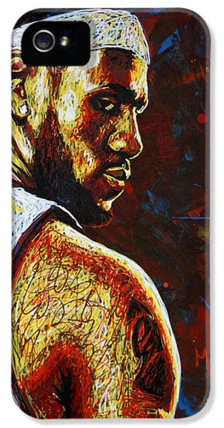 Lebron  IPhone 5 / 5s Case by Maria Arango