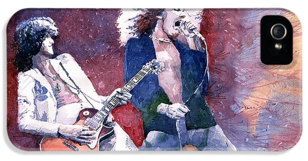 Led Zeppelin Jimmi Page And Robert Plant  IPhone 5 Case by Yuriy  Shevchuk