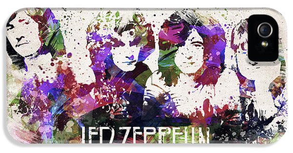 Led Zeppelin Portrait IPhone 5 Case by Aged Pixel