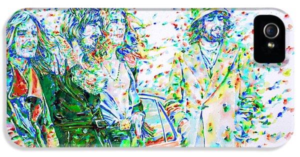Led Zeppelin - Watercolor Portrait.2 IPhone 5 / 5s Case by Fabrizio Cassetta