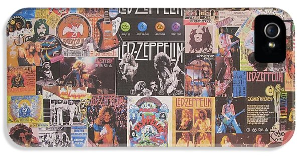 Led Zeppelin Years Collage IPhone 5 Case by Donna Wilson