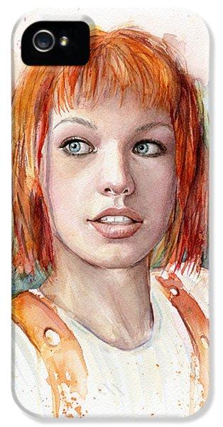 Dallas iPhone 5 Case - Leeloo Portrait Multipass The Fifth Element by Olga Shvartsur