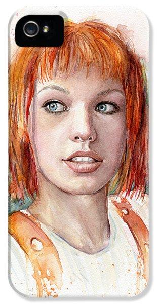 Leeloo Portrait Multipass The Fifth Element IPhone 5 Case by Olga Shvartsur