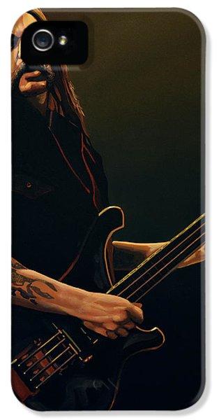 Lemmy Kilmister Painting IPhone 5 Case by Paul Meijering