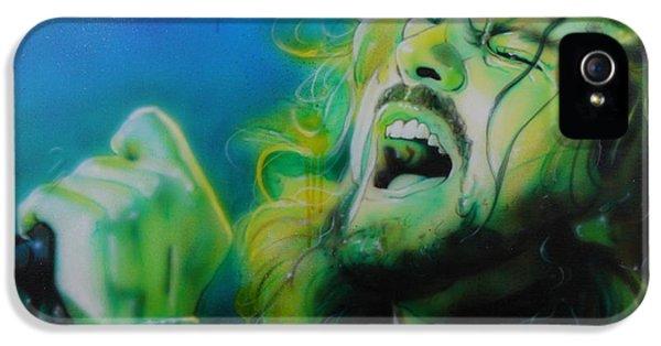 Eddie Vedder - ' Lemon Yellow Sun ' IPhone 5 / 5s Case by Christian Chapman Art