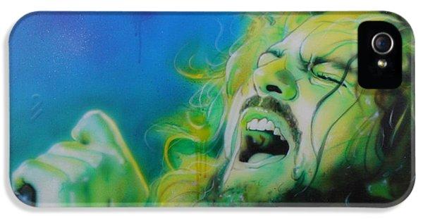 Pearl Jam iPhone 5 Case - Lemon Yellow Sun by Christian Chapman Art